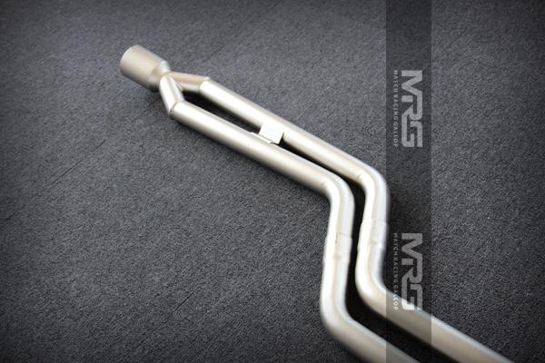 MRG精品排气 宝马系列单边双出中尾段无阀门普通款