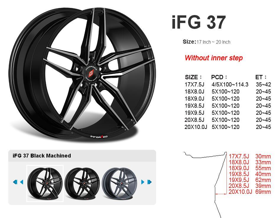 台湾INFORGED IFG37款铝合金轻量化运动轮毂轮圈