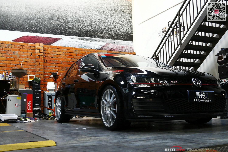 7代高尔夫GTI安装意大利OZ Ultraleggera HLT哑光银色