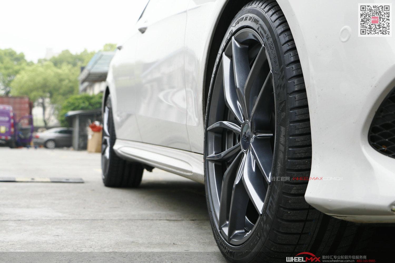 奔驰E级安装美国NICHE M204亮光枪灰款高品质轮毂