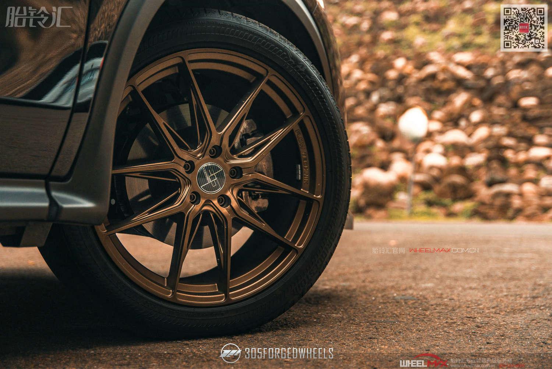 英菲尼迪QX50安装美国305FORGED  FT113超大镂空古铜色