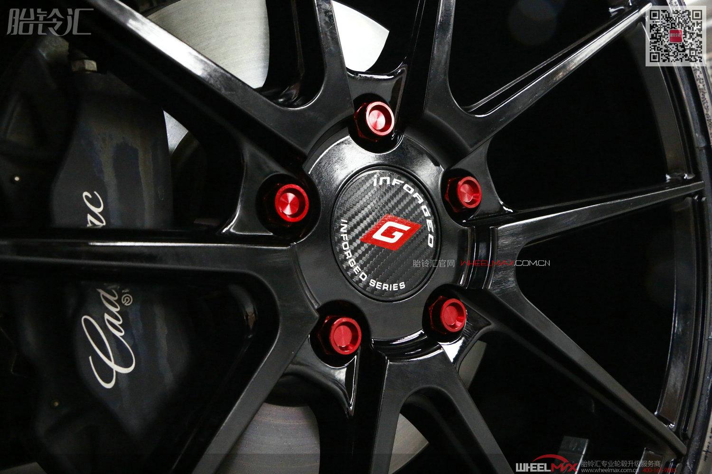 凯迪拉克ATS安装台湾精品轮毂IFG4亮黑