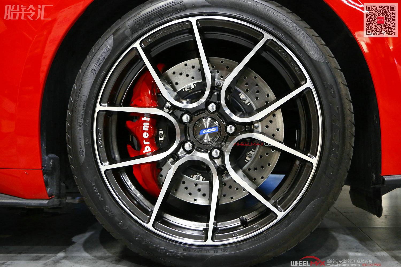 野马安装日本Rays 57ANA旋压铸造轻量化轮毂显神威