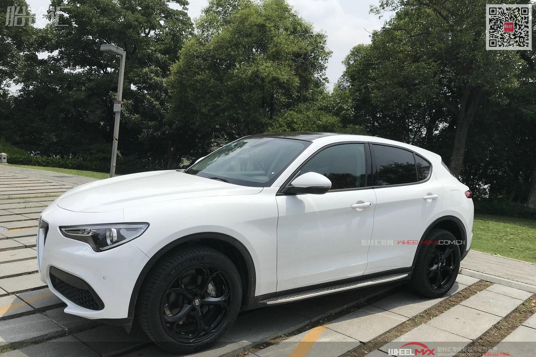 Stelvio白色靓车装黑色运动款OZ MSW82款 优质作业图
