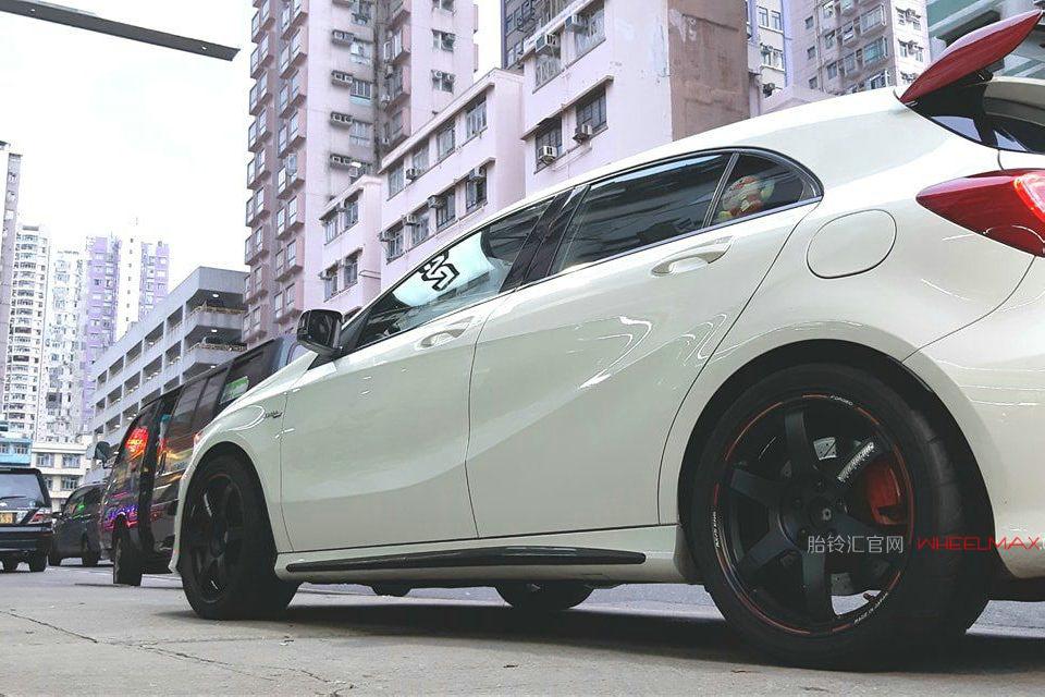 奔驰A45 AMG安装日本Rays轮毂高品质锻造TE37 AR