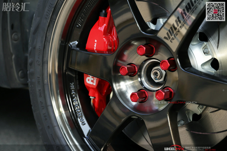 斯巴鲁森林人安装日本Rays轮毂 TE37 SL银标款式18寸