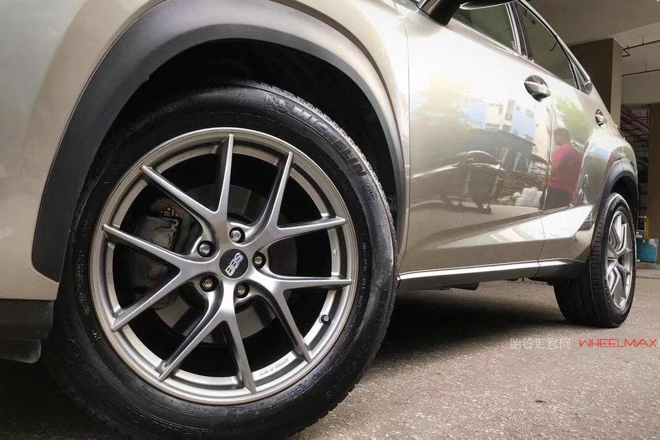 雷克萨斯NX安装德国BBS轮毂精品CI-R铂金色