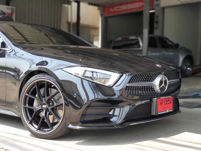 奔驰CLS安装德国BBS轮毂CI-R哑光黑色