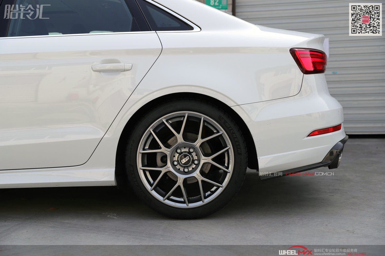 奥迪A3安装德国BBS轮毂最新款XR亮铂金银色