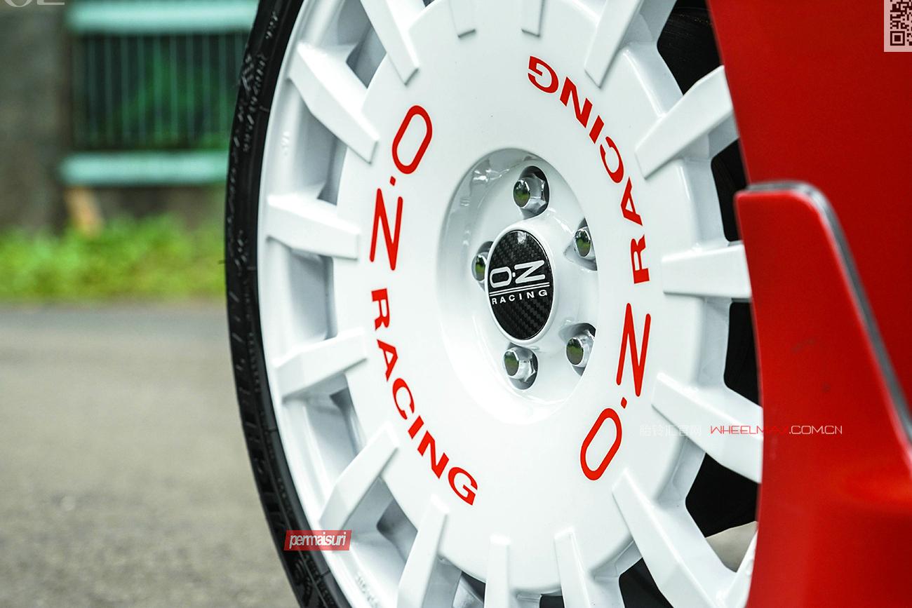 丰田86安装高性能意大利进口OZ  RALLY RACING轮毂