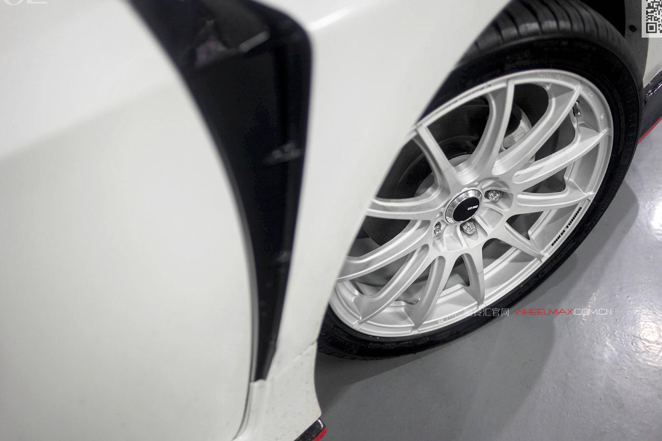 本田十年思域安装ENKEI  SC22款式轮毂优质出镜