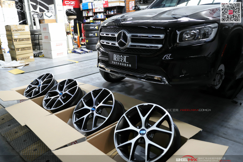 奔驰GLB安装德国高品质轮毂BBS SR黑色钻石切面版