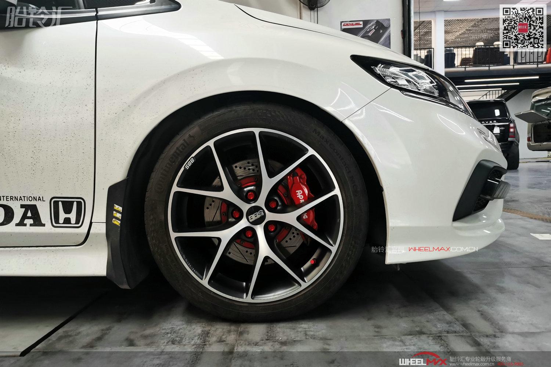 本田杰德安装德国原装进口BBS SR款式轮毂高调出镜