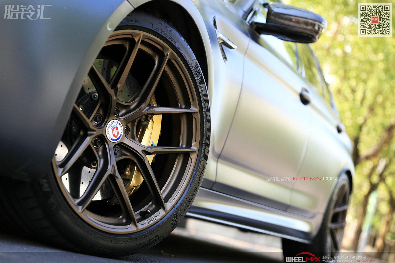 宝马M5安装美国高性能品质轮毂HRE P101SC