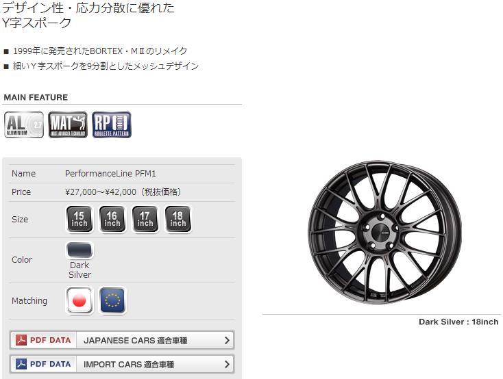 日本ENKEI PMF1款多条幅运动改装轮毂轮圈
