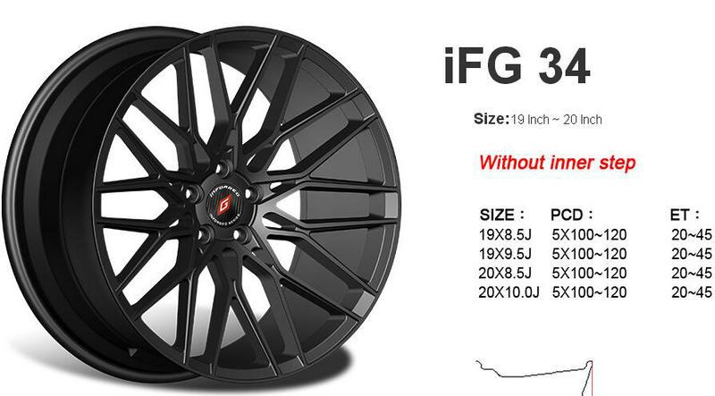 台湾INFORGED IFG34款铝合金轻量化运动轮毂轮圈