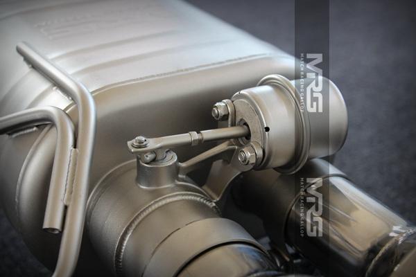MRG精品排气 宝马系列双边四出中尾段无双阀门款