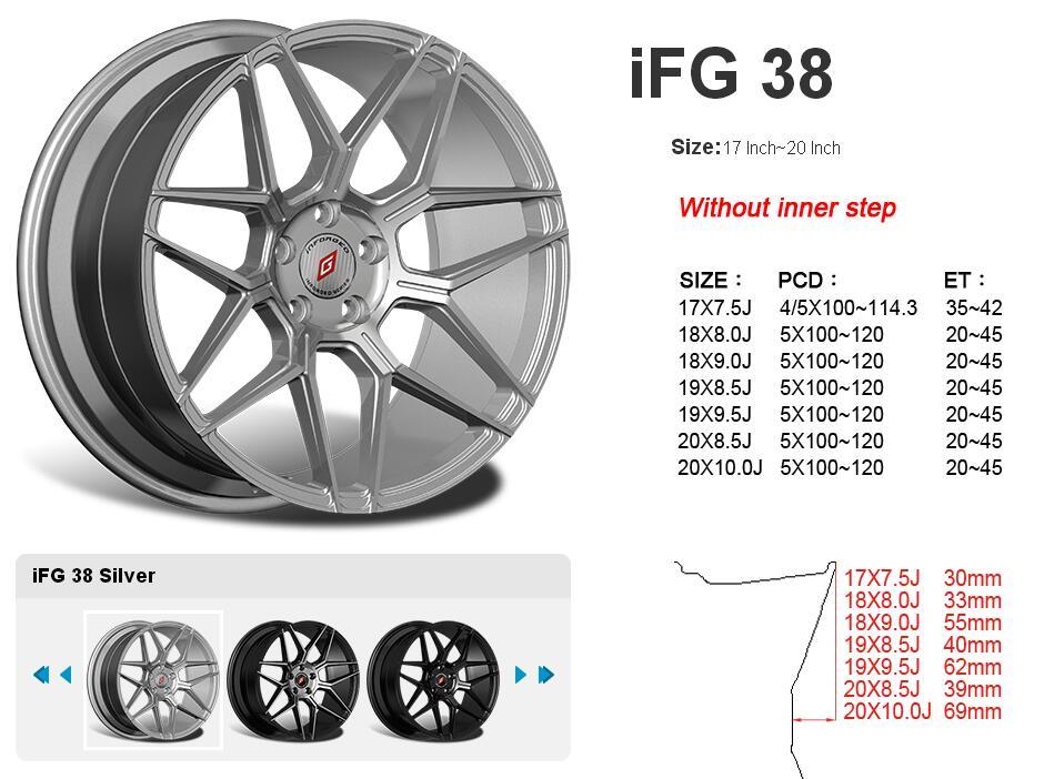 台湾INFORGED IFG38款铝合金轻量化运动轮毂轮圈