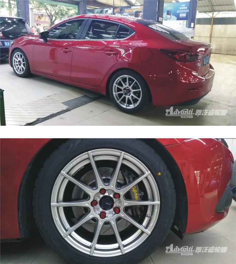 雅泛迪N719 5H旋压铸造轻量化高品质轮毂