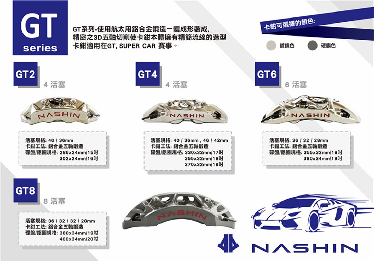 台湾雷迅NASHIN刹车N3系列