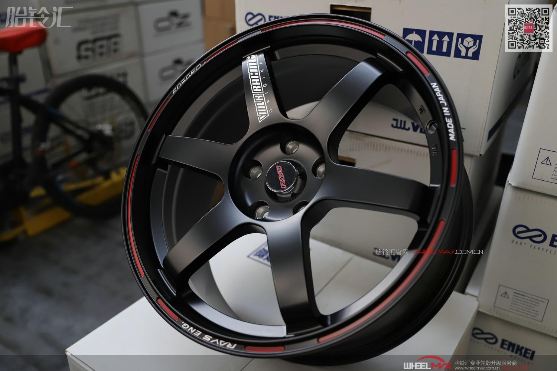 恒威启亿锻造日本RAYS款式TE37 TA哑光黑色轮毂