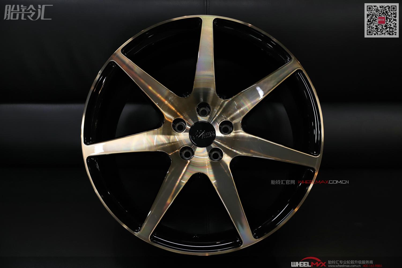 恒威启亿锻造单七辐运动款式拉丝淡金色轻量化轮毂