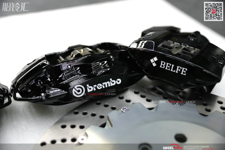 Brembo OEM CTS-V4大四活塞BELFE电机后轮刹车一体套装