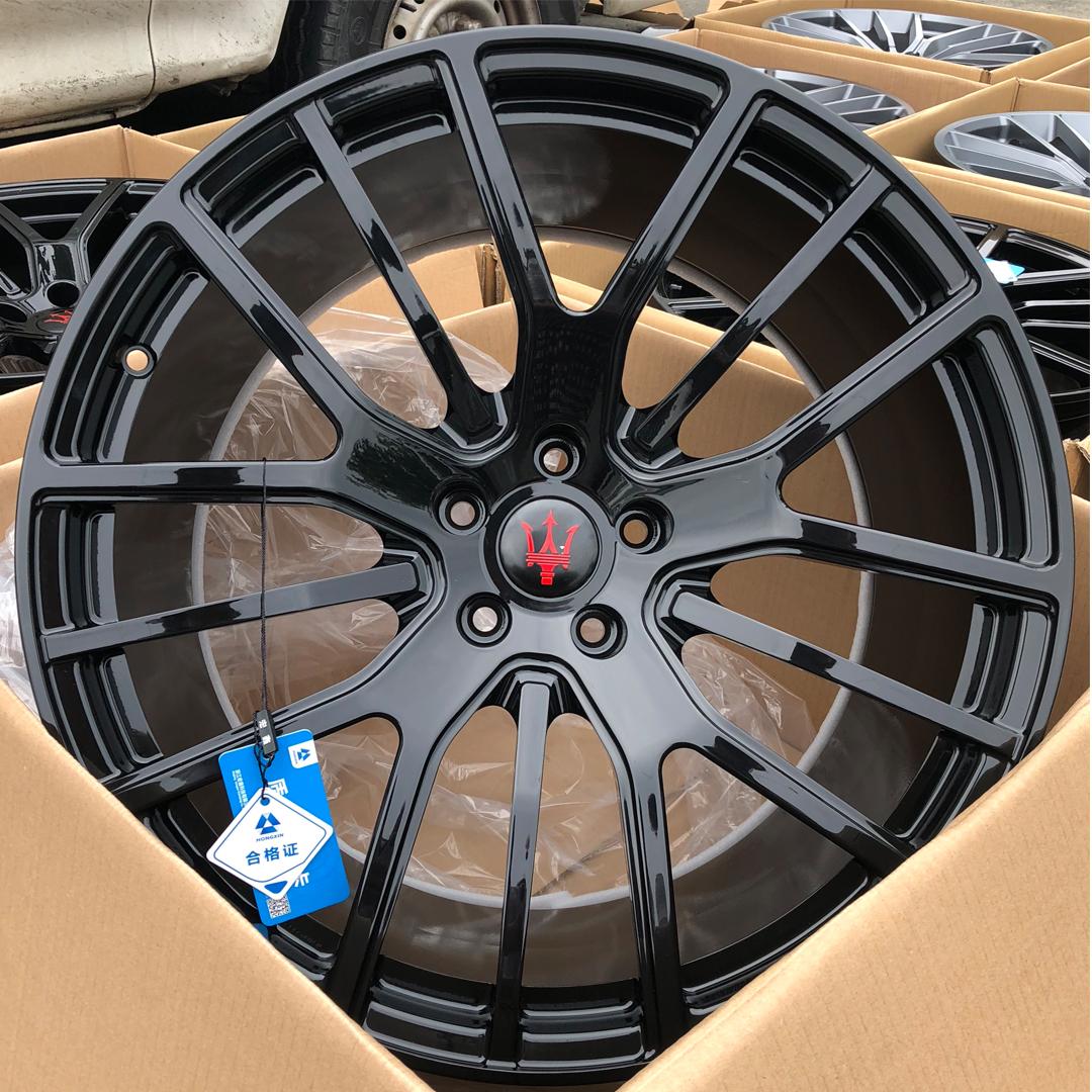 宏鑫国产锻造玛莎拉蒂轻量化MASHA15原厂单多辐锻造高配轮毂